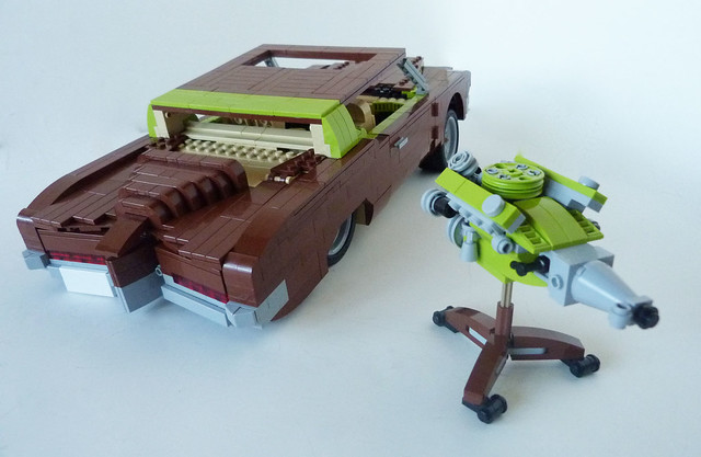 brown green boat buick riviera lego tail tan engine showboat 70s lime build 1972 martins challenge lino v8 lugnuts 455 boattail madmotorskills