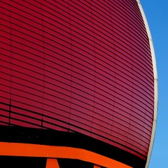 lines & architecture (pienw) Tags: red architecture rotterdam luxor luxortheater