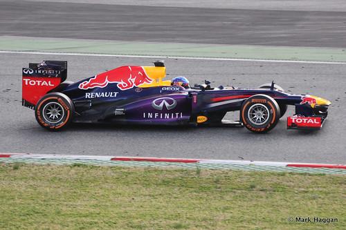 Sebastian Vettel in his Red Bull in Formula One Winter Testing, 3rd March 2013
