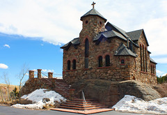 St Catherine near Estes Park (rnrlogo) Tags: sky snow mountains church st steps catherine longspeak stmalo estesparkcolorado