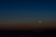 Getting Dark (Michael Kline) Tags: sunset moon march dusk va comet 2013