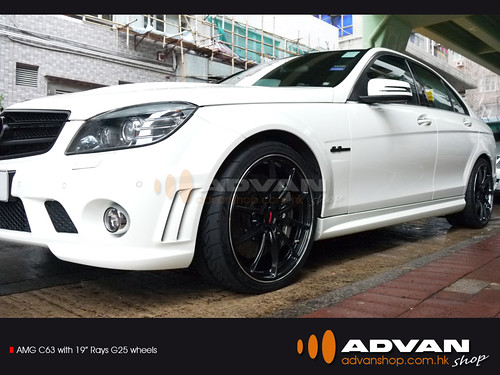 "AMG C63 with 19"" Rays G25 wheels"