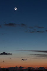 PANSTARRS at Sunset (Flickr Dave) Tags: sunset moon crescent comet mar13 panstarrs 20130313