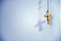 Hanging on (Zdenko Zivkovic) Tags: white wall christ cross jesus rope plastic hanging nikond800
