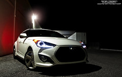 Hyundai Veloster Turbo (Peter Tromboni Photography) Tags: 6 white hot night speed fun nikon long exposure florida fast led peter turbo elite sarasota hatch hyundai quick boost tromboni veloster