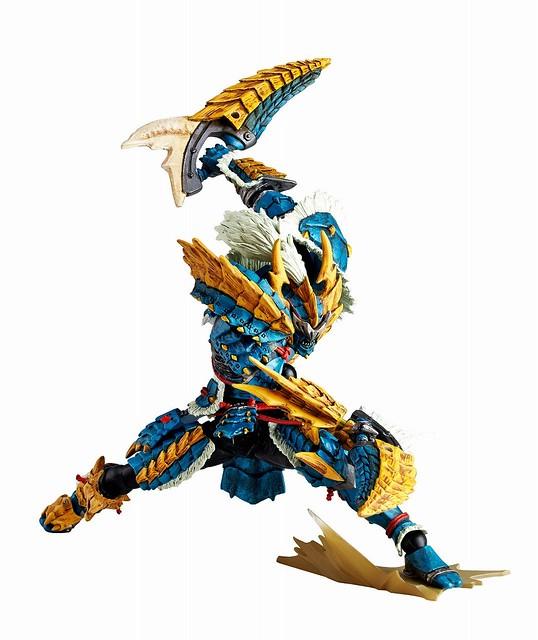 海洋堂 魔物獵人 雷狼龍裝男劍士