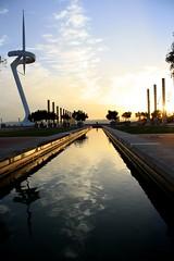 Barcelona (Estl C.) Tags: barcelona sunset summer lights awesome estadi olmpic