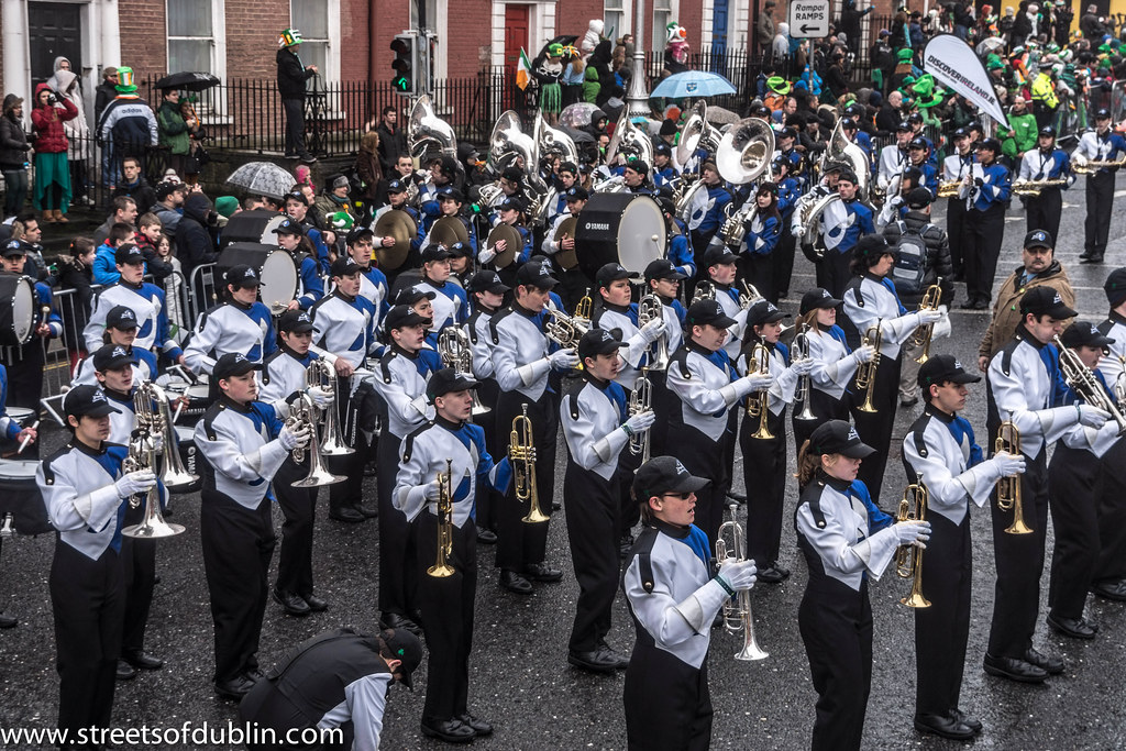St. Patrick's Day Parade (2013) In Dublin - Bartlesville High School Marching Band, Oklahoma, USA