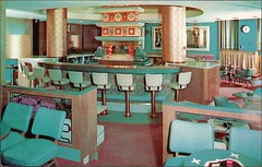 Hotel Faust Terrace Lounge Restaurant (1950sUnlimited) Tags: travel vacation vintage bars roadtrips 1950s postcards hotels cocktails inns motels midcentury lobbies lounges cocktaillounges hotelfaust