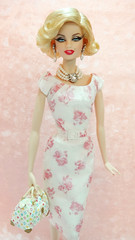 Marilyn Monroe in Luncheon Ensemble (possiblezen) Tags: pink robert fashion marilyn model doll dress barbie best collection monroe limited ensemble exclusive mattel luncheon silkstong