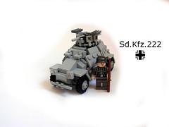 Sd.Kfz. 222 (better pic) (McJakub) Tags: world scale war lego military wwii sd ww2 222 140 moc wehrmacht kmfl kfz sdkfz mcjakub