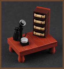The Telephone (H. P. Lovecrafts Study) (Xenomurphy) Tags: summer phone lego telephone gothic providence study cthulhu lovecraft horror artifact author hplovecraft necronomicon moc oldones