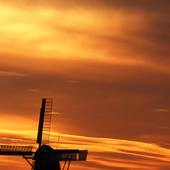a miller's sunset (Chantal van der Ende-Appel) Tags: sunset mill groningen sooc adorp