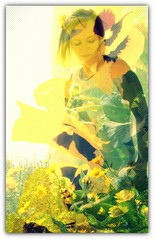 sunshine (dashachovancova) Tags: woman flower green love girl beautiful sunshine collage garden spring amazing nikon yelow lovely d90