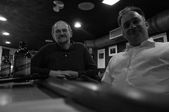 Paul and Tom (Andrew Caird) Tags: bw boston bar paul blues wallyscafe tknox dscrx100 28100mmf1849