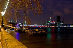 River Thames (frederic jon) Tags: nightphotography london westminster riverthames embankment waterloobridge