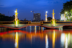 The Pemuda Bridge (Jakop Iskandar) Tags: bridge heritage architecture canon cityscape bluehour surabaya ze pemuda planart1450 5dmk2 planart1450mm historicsurabaya surabayaheritage dutchcolonialstructures