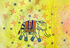 Block print to create your own elephant wall art (Colouricious) Tags: wallart textileart ancientart indianart blockprinting elephantart woodstamps textiletechniques woodenprintingblocks textileprojects blockprintingdesigns