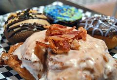 Bacon Apple Fritter (jpellgen) Tags: usa minnesota america nikon midwest minneapolis mpls bakery donuts 1855mm twincities nikkor pastries doughnuts mn whittier nicollet 2013 glamdoll d3100