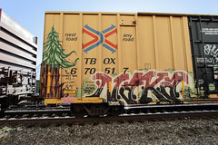 Plantrees  Naka (Revise_D) Tags: railroad art graffiti rails graff tagging freight lords revised naka trainart plantrees fr8 benching fr8heaven fr8aholics