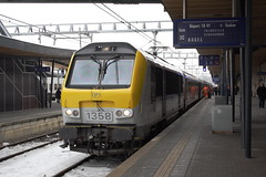 20130124 013 Luxembourg. SNCB NMBS 1358 Has Arrived With IC2107 Which Becomes EC91, 07.33 Bruxelles Midi-Basel SBB (15038) Tags: electric trains locomotive luxembourg railways cfl 1358 nmbs sncb class13 srie13 reeks13