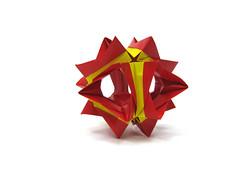 Staflow by Andrey Hechuev (l_incka) Tags: origami papiroflexia origamimodular modularorigami dobradura おりがみ kusudama 折り紙 оригами кусудама papierfalten pliagedepapier papefolding dobraduradepapel staflow звецвет стафлоу staflowseries