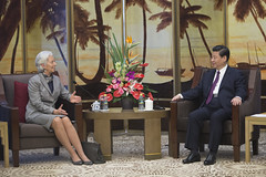 IMF Managing Director Christine Lagarde at Boao Forum for Asia annual conference, April 7, 2013
