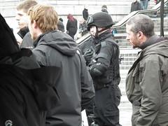 Dr Who DSCF6514 (kenjonbro) Tags: uk england london film westminster television actors tv trafalgarsquare police crew doctorwho filming charingcross sw1 worldcars kenjonbro fujifilmfinepixhs10