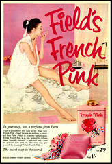 Fields French Pink (Harald Haefker) Tags: pink england english promotion vintage magazine ads print advertising french pub publicidad reclame ad retro anuncio advertisement nostalgia 1950s advert british 1956 werbung publicit magazin reklame affiche publicitario pubblicit englische rclame fields pubblicizzazione