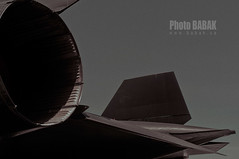 Lockheed SR-71 Blackbird (BABAK photography) Tags: nyc plane fuji aviation babak usaf blackbird sr71 jetfighter spyplane planespotting x100 afterburners lockheedsr71blackbird reconnaissance wingshot babakca blackplane babakphotographer fujix100