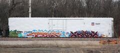 Terms/Xaust (quiet-silence) Tags: railroad train graffiti ant railcar unionpacific graff freight cbs reefer mfk terms armn fr8 cik wkt xaust armn170044
