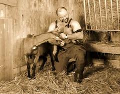 im ziegenstall april 2013 (Farmerbaer) Tags: rural ziege gummistiefel landleben gizzi rubberbots ziegenstall schweizerbauer