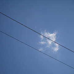 commtrails (Jon Downs) Tags: blue sky cloud white black color colour art colors lines electric clouds digital downs lumix photography photo jon flickr artist colours photographer image telephone picture pic minimal line panasonic communication photograph comm gf5 jondowns