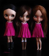 Pink!! (Melacacia ) Tags: pink girls ingrid angel zoe spring dolls dress amy dresses blythe wardrobe custom dolly marcos carsten sbl ebl rbl zaloa 2013 melacacia