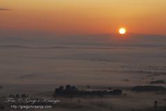 Ljubljansko barje - Ljubljana Marshes (gregork.) Tags: sunset summer mist sunrise ljubljana marsh 2012 barje ljubljansko sončnivzhod svetaana meglice