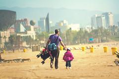 Barceloneta (Juanedc) Tags: barcelona city two people espaa beach kid spain couple child ge