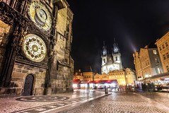 CLOCK TIME (Rober1000x) Tags: longexposure night square lights europa prague praha marketplace oldtown oldtownsquare stnicholaschurch astronomicalclock churchofourlady staremesto nmst star msto staromstsk 2013 josevof