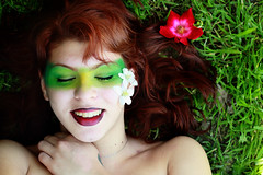 Smile Of Spring (EllieJD) Tags: flowers red portrait selfportrait verde green art primavera me smile fashion yellow canon hair spring arte makeup rosa io redhead erba giallo autoritratto sorriso fiori sole rosso felice prato ritratto rossi melo capelli rossetto caldo allegria fioridimelo