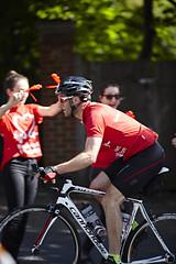 Prudential RideLondon-Surrey 100 & 46 2016 (British Heart Foundation) Tags: bhf heart riders prudential ridelondon eventsurrey100climbingwimbledonhill london red cycle bicycle climb hills steep joy cheer uk