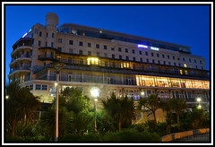 Park Inn Palace Hotel, Southend-on-Sea Essex (coldnebraskablue) Tags: building architecture night outdoors hotel twilight outdoor dusk tripod palace structure historic bluehour 1855 essex casinos parkinn southendonsea grosvenor longshutterspeed nikond7100