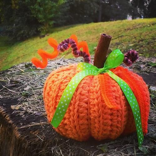 Hiiii 🙋 Happy Sunday 😀! Sweet smell #pumpkin  for my #friend 😘 #crochet #crochetingmakesmehappy #crochetdecoration #crochetpumpkin #crochetaddict #crochetlove #instacrochet #vendulkam