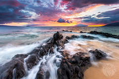 Charley Young Beach Sunset (brandon.vincent) Tags: canon lee filter gnd hard beach maui sunset hawaii long exposure water ocean movement lava rocks
