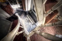 (satanclause) Tags: abandoned house manoir dp maison klavir piano oputn dm urbex hdr staircase schodit belgie belgium