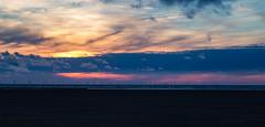 The Windmills of my Mind (cathbooton) Tags: canon6d canoneos canonusers colours sun clouds sky summer wirral horizon skyline dusk sunset turbines coastal coast sea seascape