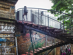 Steps-1.jpg (Colin Dorey) Tags: westway london w2 westbournepark greatwesternroad canal paddingtonbranch architecture ladbrokegrove kensalroad kensaltown graffiti bridge roadbridge