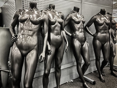 IMG_1565-Edit-2 (jbrownell) Tags: sportsauthority monochromatic clearance outofbusiness mannequin nude sale headless creepy closing empty store sports iphone urban statue grainy gritty
