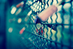 Just love (photogo.pl) Tags: köln cologne love trainstation padlock fence color