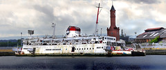 Tuxedo Royale sits half submerged on the River Tees, Middlesborough, England. (aclark1964) Tags: tuxedo royale sits half submerged river tees canon eos 5d mark iii ef400mm f56l usm panorama middlesbrough