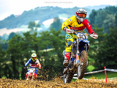 P318619 (Roberto Silverio) Tags: motoctoss sportphotography colors blue blu yellow white cross olympuscamera olympusphotography photo pic