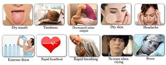 Symptoms-of-Dehydration (eInfoDesk) Tags: reasons causes symptoms what is dehydration how overcome natural treatment